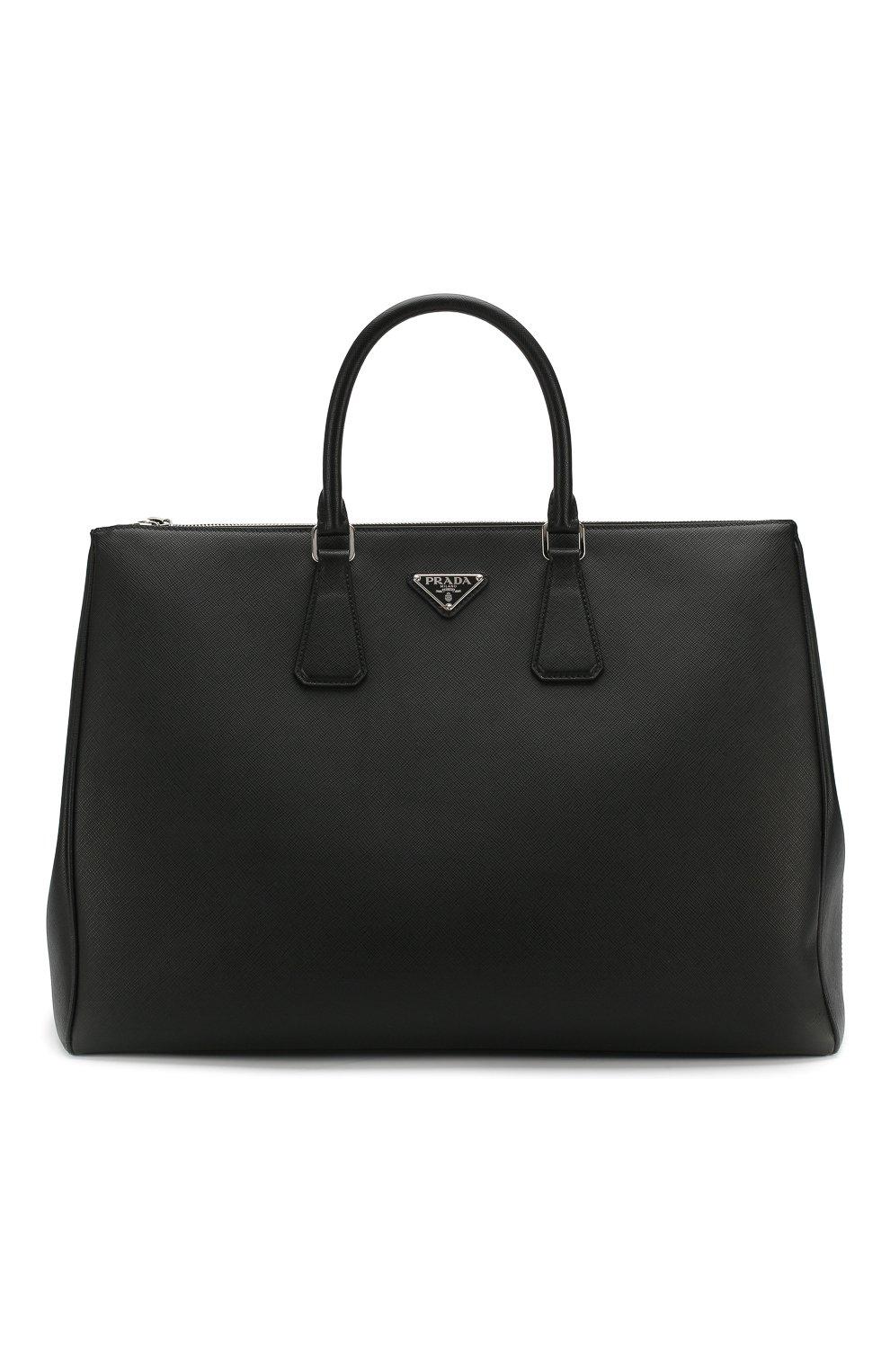 5b388248a307 Мужская черная кожаная дорожная сумка PRADA — купить за 184500 руб ...