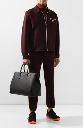Мужская кожаная дорожная сумка PRADA черного цвета, арт. 2VG047-9Z2-F0002 | Фото 2