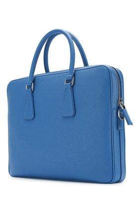 Кожаный портфель Prada синий | Фото №3