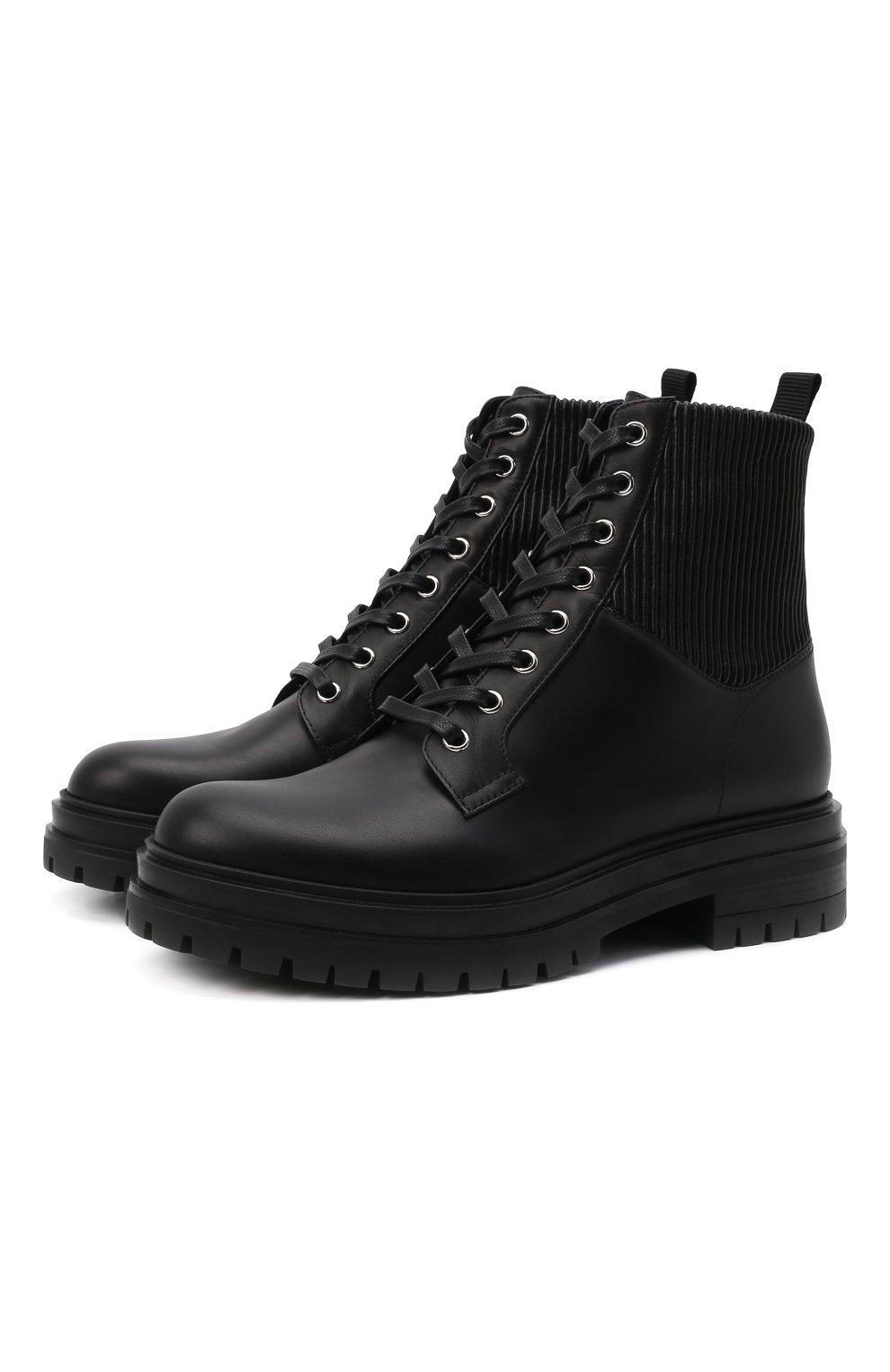 Женские кожаные ботинки GIANVITO ROSSI черного цвета, арт. G73884.20CU0.CE0NENE | Фото 1