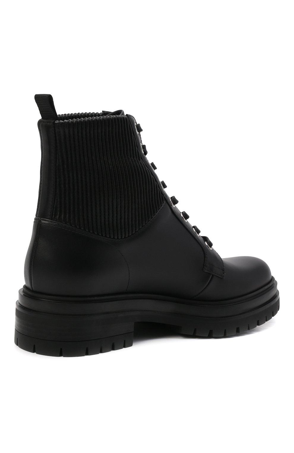 Женские кожаные ботинки GIANVITO ROSSI черного цвета, арт. G73884.20CU0.CE0NENE | Фото 5