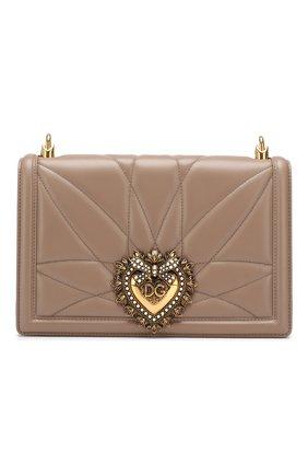 Женская сумка devotion medium DOLCE & GABBANA коричневого цвета, арт. BB6651/AV967 | Фото 1