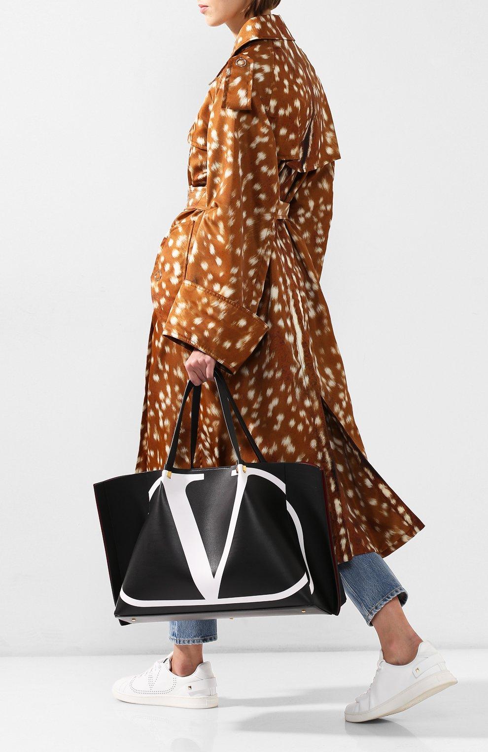 Сумка-тоут Valentino Garavani Go Logo Escape large Valentino черная цвета | Фото №2