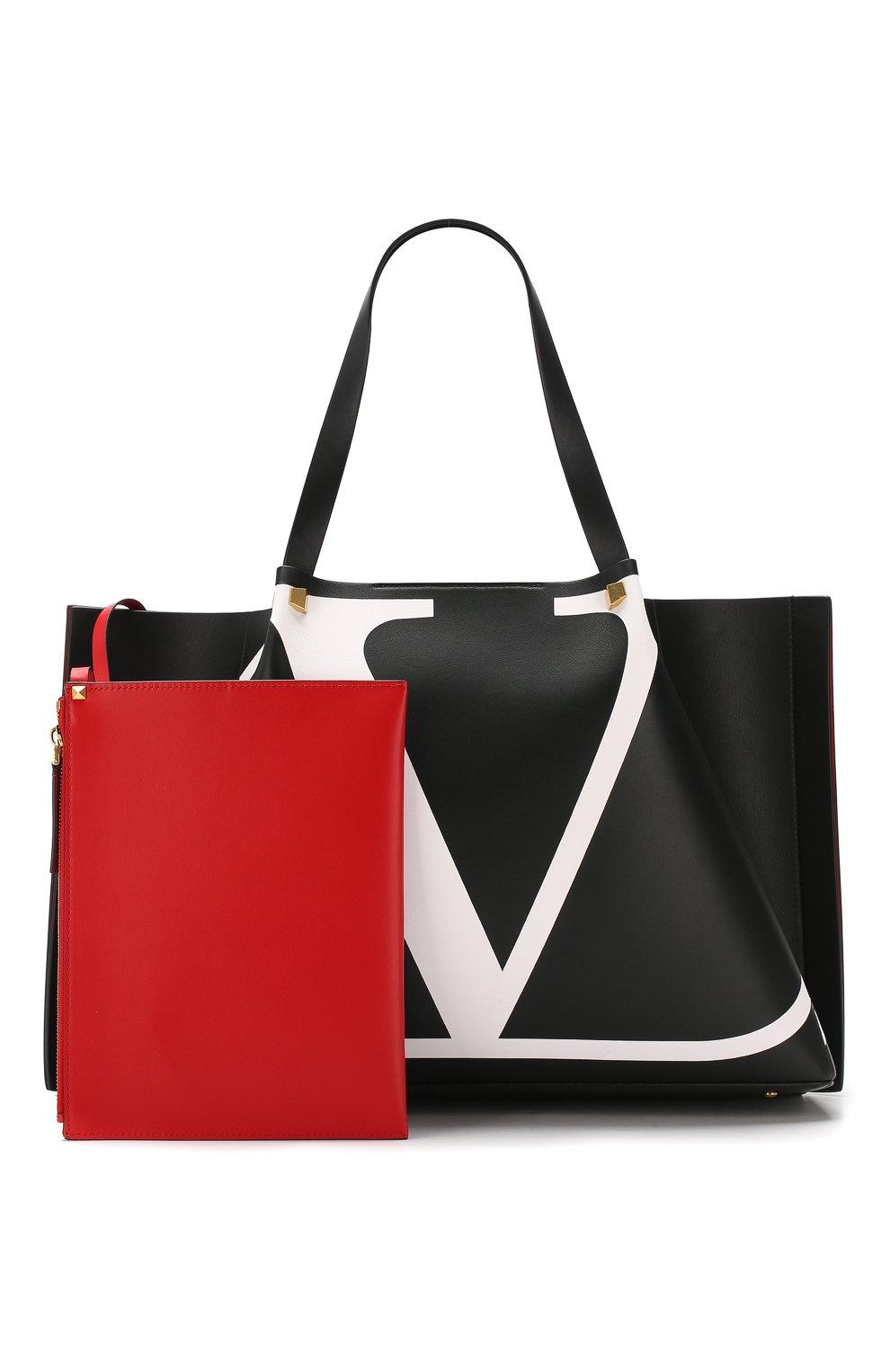 Сумка-тоут Valentino Garavani Go Logo Escape large Valentino черная цвета | Фото №5