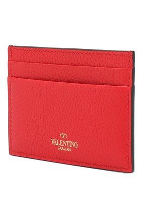 Женский кожаный футляр для кредитных карт valentino garavani VALENTINO красного цвета, арт. SW2P0486/VSH | Фото 2