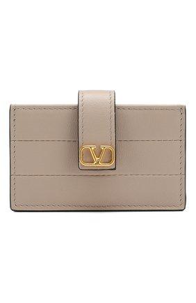 Кожаный футляр для кредитных карт Valentino Garavani | Фото №1