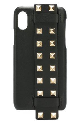 Мужской чехол valentino garavani для iphone x/xs VALENTINO черного цвета, арт. SW2P0S62/B0L | Фото 1