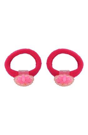 Детская комплект из двух резинок strawberry JUNEFEE розового цвета, арт. 5885   Фото 1
