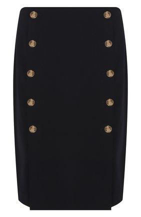 Женская шерстяная юбка RALPH LAUREN синего цвета, арт. 290740426 | Фото 1