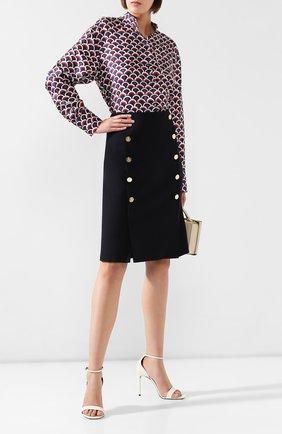 Женская шерстяная юбка RALPH LAUREN синего цвета, арт. 290740426 | Фото 2