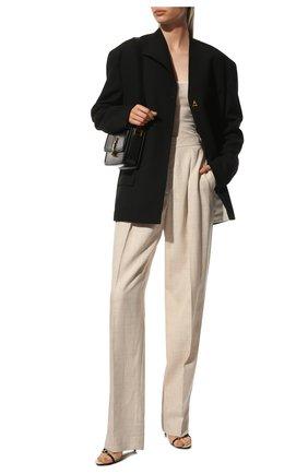 Женские брюки из смеси вискозы и льна STELLA MCCARTNEY бежевого цвета, арт. 565361/SMB61 | Фото 2 (Длина (брюки, джинсы): Стандартные; Статус проверки: Проверена категория; Материал внешний: Вискоза; Женское Кросс-КТ: Брюки-одежда; Случай: Формальный)