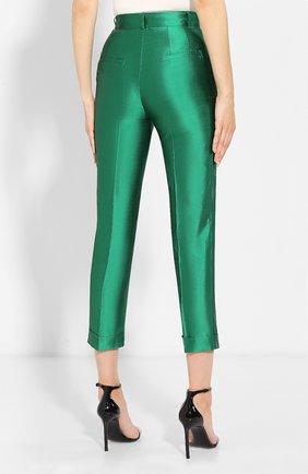 Шелковые брюки Dolce & Gabbana зеленые   Фото №4