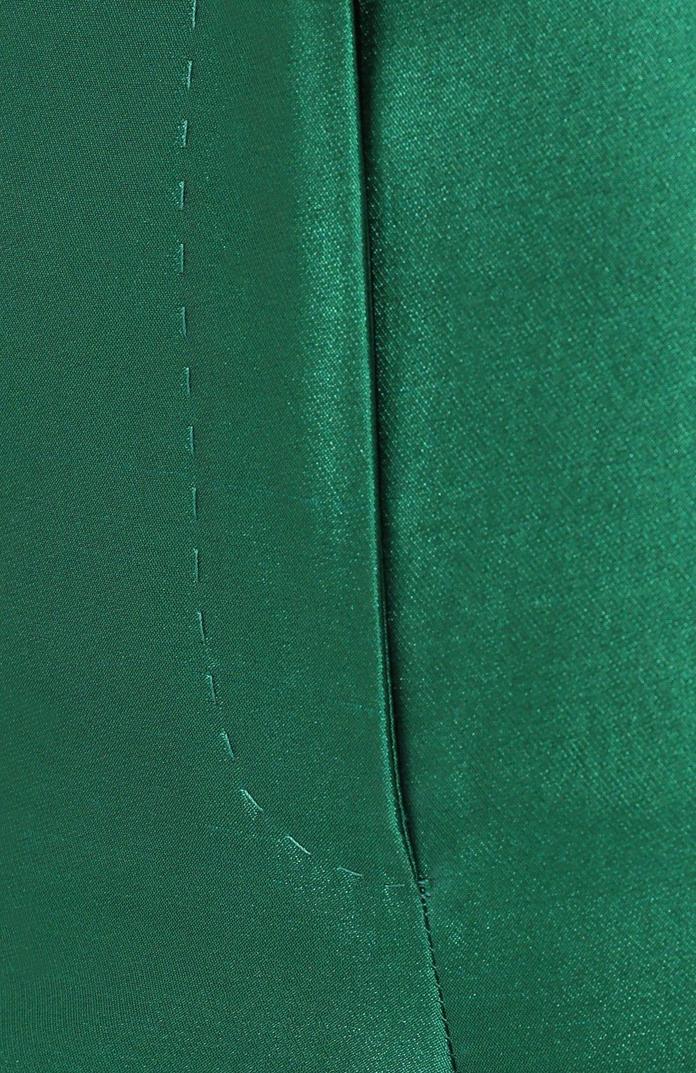Шелковые брюки Dolce & Gabbana зеленые   Фото №5