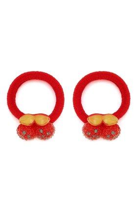 Детская комплект из двух резинок cherry JUNEFEE красного цвета, арт. 4602 | Фото 1
