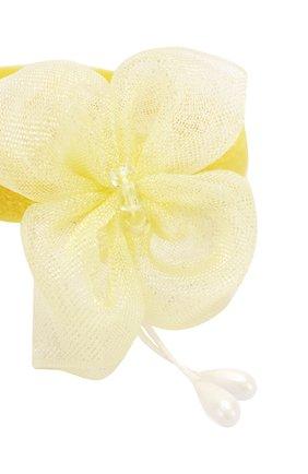 Детская комплект из двух резинок butterfly JUNEFEE желтого цвета, арт. 5903 | Фото 2