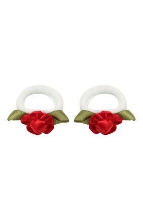 Детская комплект из двух резинок rosette sm JUNEFEE красного цвета, арт. 5896 | Фото 1
