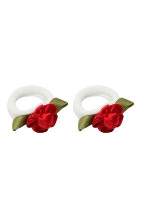Детская комплект из двух резинок rosette sm JUNEFEE красного цвета, арт. 5896 | Фото 2