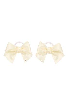 Детская комплект из двух резинок classic bow JUNEFEE бежевого цвета, арт. 5971 | Фото 1