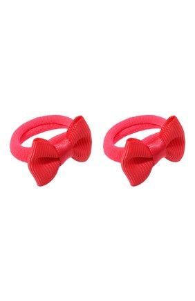 Детская комплект из двух резинок small bow JUNEFEE кораллового цвета, арт. 5939 | Фото 2