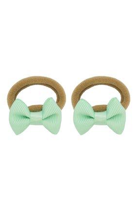 Детская комплект из двух резинок small bow JUNEFEE зеленого цвета, арт. 5940 | Фото 1