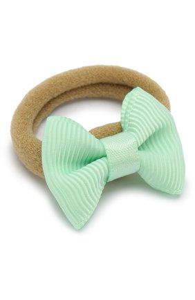 Детская комплект из двух резинок small bow JUNEFEE зеленого цвета, арт. 5940 | Фото 2