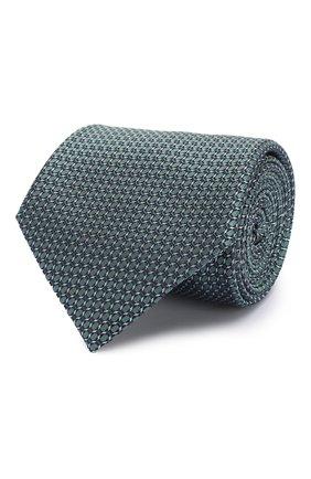 Мужской шелковый галстук BRIONI зеленого цвета, арт. 062H00/P8459 | Фото 1