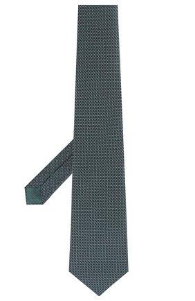 Мужской шелковый галстук BRIONI зеленого цвета, арт. 062H00/P8459 | Фото 2