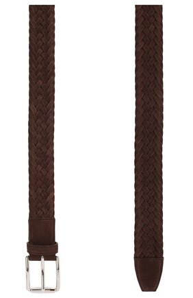 Мужской замшевый ремень TOD'S коричневого цвета, арт. XCMCPR23100HMK | Фото 2