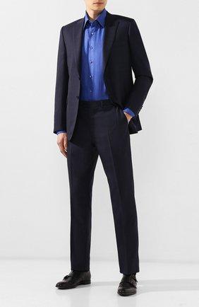 Мужская льняная рубашка ZILLI темно-синего цвета, арт. MFR-MERCU-17092/RZ01 | Фото 2