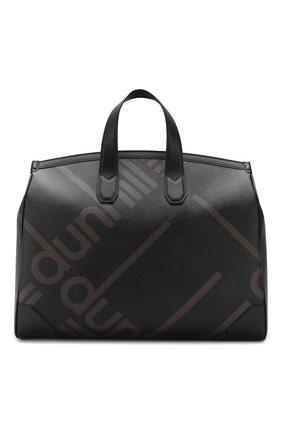 Мужская дорожная сумка DUNHILL черного цвета, арт. DU19R3250SC | Фото 1