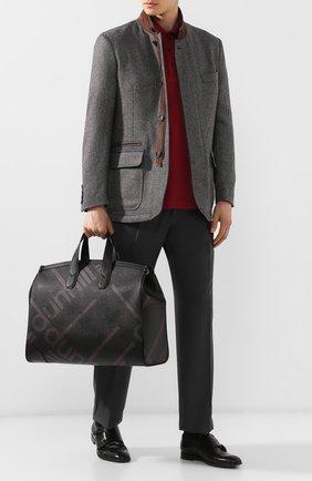 Мужская дорожная сумка DUNHILL черного цвета, арт. DU19R3250SC | Фото 2