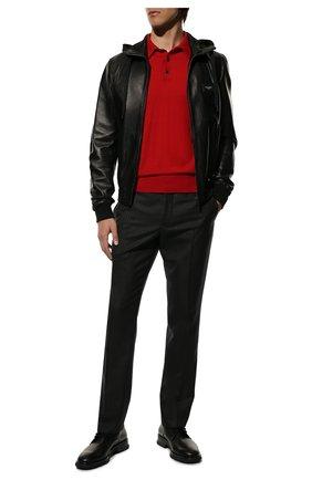 Мужской кожаный бомбер DOLCE & GABBANA черного цвета, арт. G9PB8L/FUL89 | Фото 2