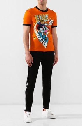 Мужская хлопковая футболка DOLCE & GABBANA оранжевого цвета, арт. G8JX7T/HH79V | Фото 2