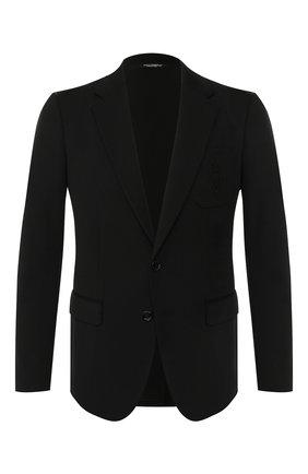 Мужской шерстяной пиджак DOLCE & GABBANA черного цвета, арт. G2NF4Z/GEH80   Фото 1