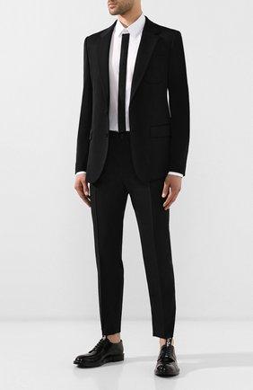 Мужской шерстяной пиджак DOLCE & GABBANA черного цвета, арт. G2NF4Z/GEH80   Фото 2