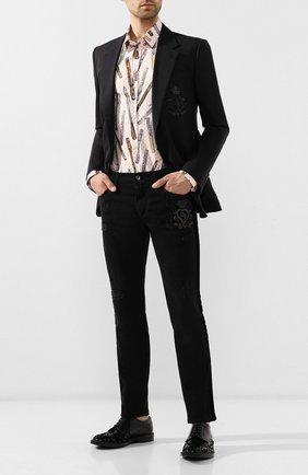 Мужские джинсы DOLCE & GABBANA черного цвета, арт. GYWALZ/G8BA9 | Фото 2