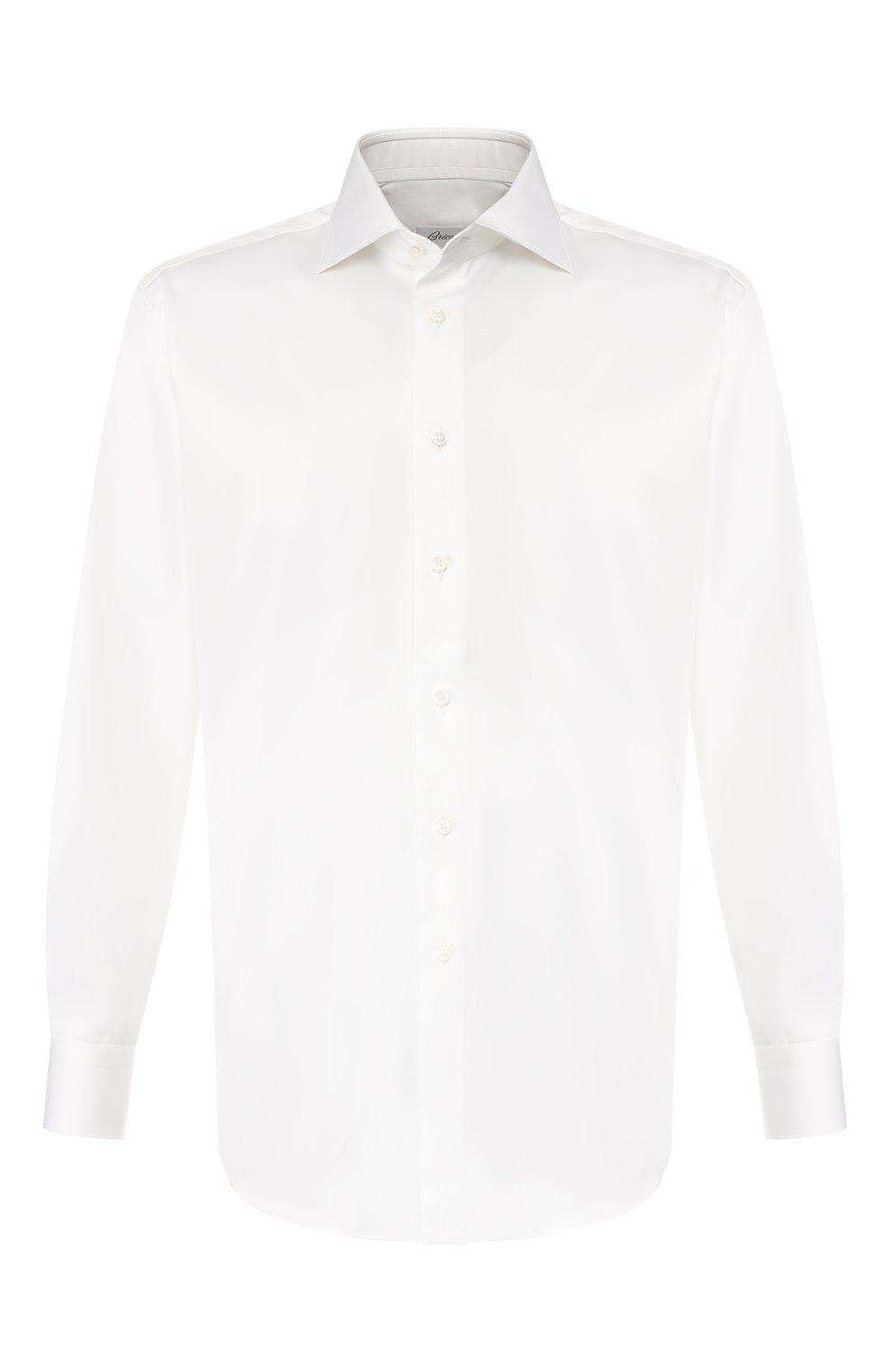 Мужская хлопковая сорочка BRIONI белого цвета, арт. RCLU4I/PZ042   Фото 1