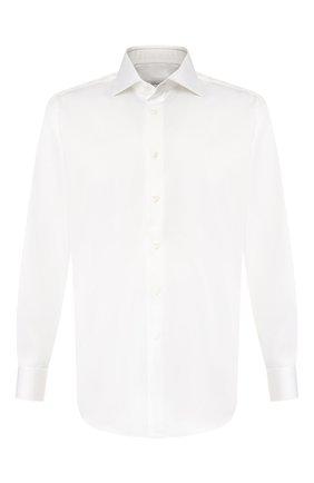 Мужская хлопковая сорочка BRIONI белого цвета, арт. RCLU4I/PZ042 | Фото 1
