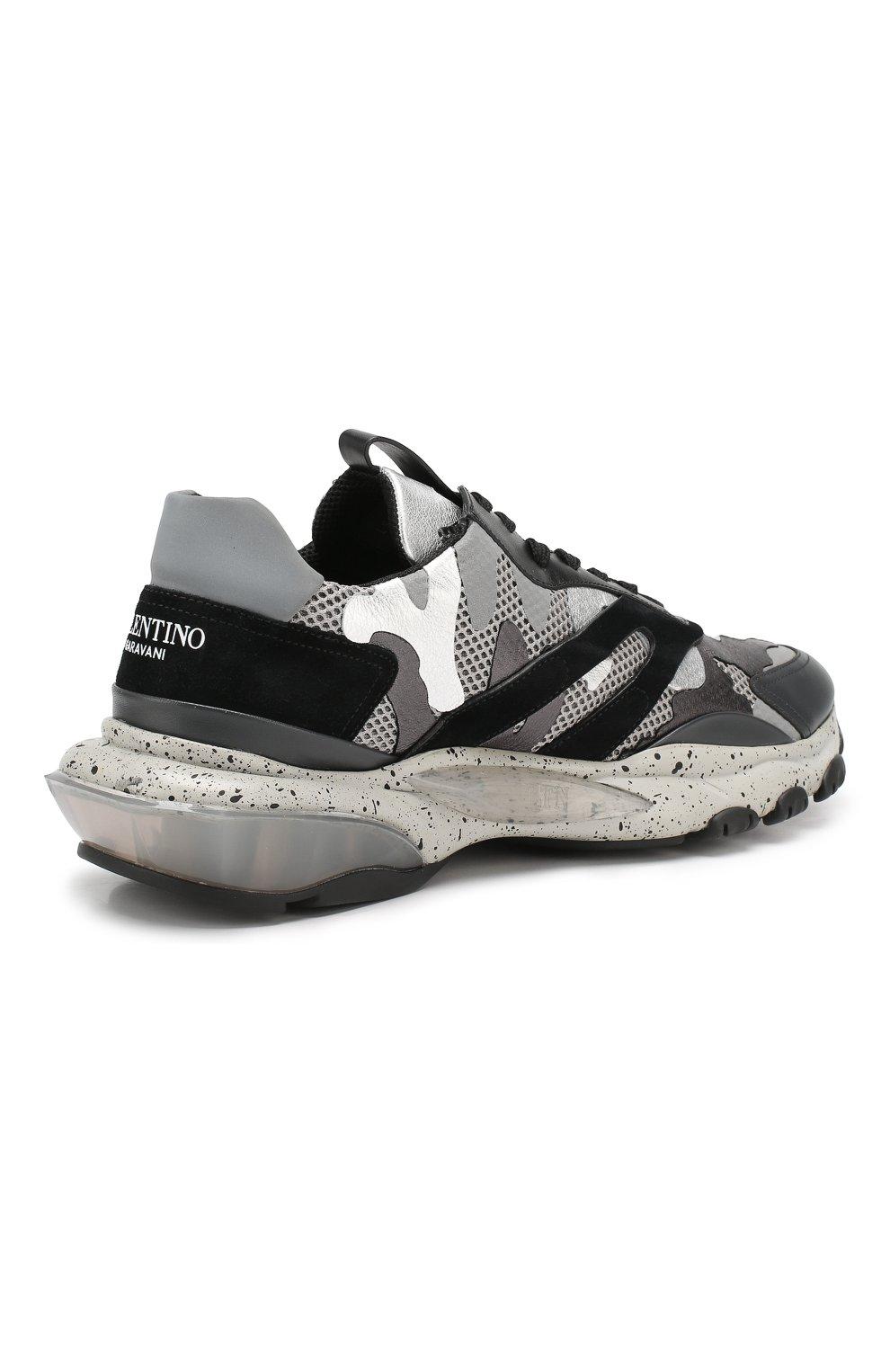 Комбинированные кроссовки Valentino Garavani Bounce | Фото №4