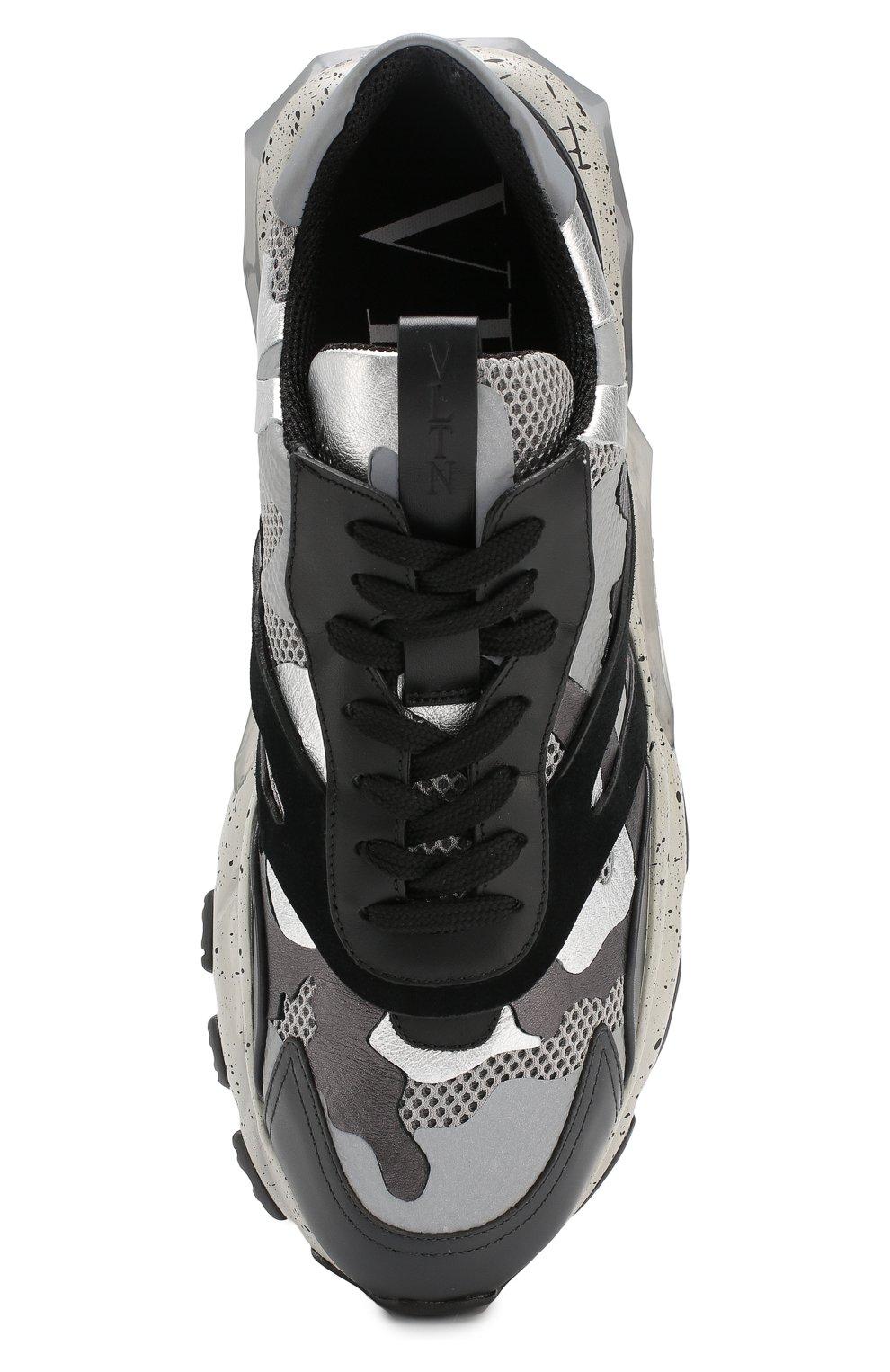 Комбинированные кроссовки Valentino Garavani Bounce | Фото №5