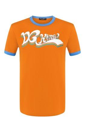 Мужская хлопковая футболка DOLCE & GABBANA оранжевого цвета, арт. G8JX7T/G7SJC | Фото 1