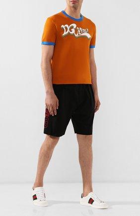 Мужская хлопковая футболка DOLCE & GABBANA оранжевого цвета, арт. G8JX7T/G7SJC | Фото 2