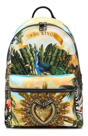 Мужской комбинированный рюкзак vulcano DOLCE & GABBANA разноцветного цвета, арт. BM1607/AA664 | Фото 1
