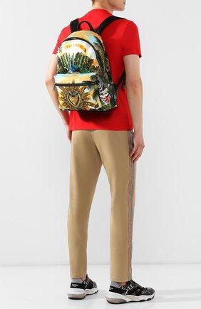 Мужской комбинированный рюкзак vulcano DOLCE & GABBANA разноцветного цвета, арт. BM1607/AA664 | Фото 2