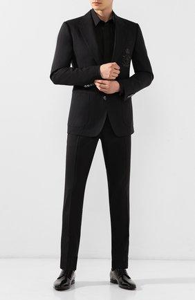 Мужской кожаные дерби positano DOLCE & GABBANA черного цвета, арт. A10465/A1203 | Фото 2