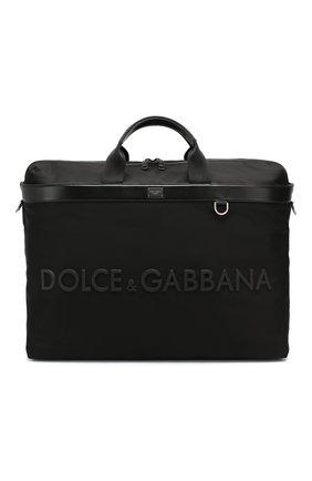 Мужская комбинированная дорожная сумка street DOLCE & GABBANA черного цвета, арт. BM1624/AZ675 | Фото 1
