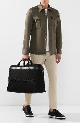 Мужская комбинированная дорожная сумка street DOLCE & GABBANA черного цвета, арт. BM1624/AZ675 | Фото 2