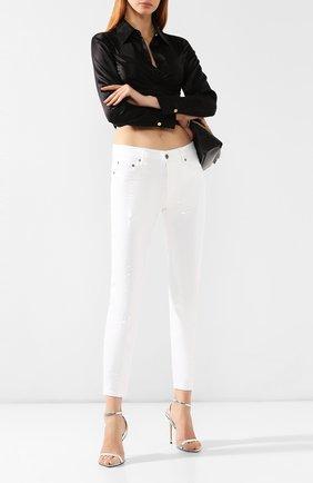 Женские джинсы с пайетками RALPH LAUREN белого цвета, арт. 290756582 | Фото 2