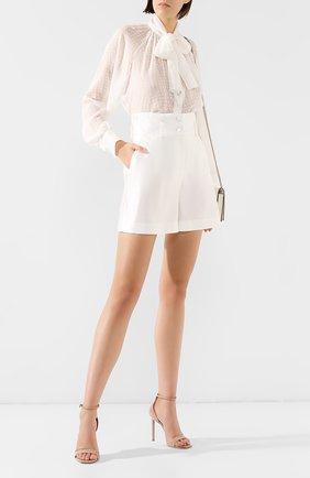 Женские шелковые шорты DOLCE & GABBANA белого цвета, арт. FTBKYT/FU1L5 | Фото 2