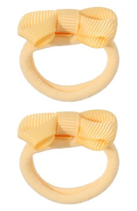 Детская комплект из двух резинок small bow JUNEFEE желтого цвета, арт. 5938 | Фото 1